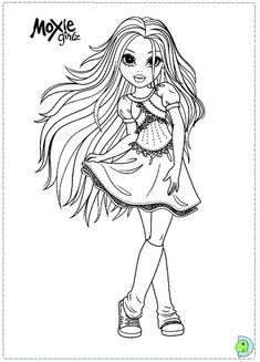 Moxie Girlz colouring page