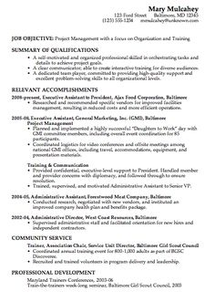 Resume Templates For Management Positions Sample Resume For Project Management Focus On Team Leadership .