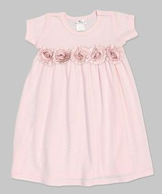 Look what I found on #zulily! Pale Mauve Rosette Babydoll Dress - Infant by Truffles Ruffles #zulilyfinds