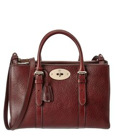 MULBERRY MULBERRY BAYSWATER SMALL DOUBLE ZIP NATURAL LEATHER TOTE'. #mulberry #bags #shoulder bags #hand bags #leather #tote #lining #
