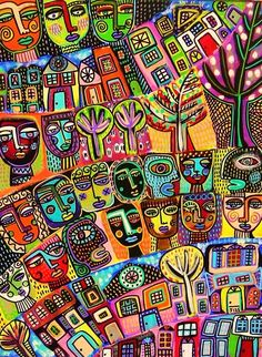 SILBERZWEIG Original Mexican Folk Art TREE OF LIFE TALAVERA PEOPLE GARDEN HOUSE  #MEXICANFOLKORIGINALART