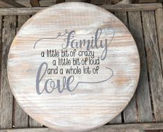 Your place to buy and sell all things handmade Lazy Susan, Wood Centerpieces, Cocoa, Dining Decor, Kitchen Decor, Dining Room, Metal Clock, Wood Rounds, Wooden Signs