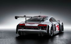 Download wallpapers Audi R8 LMS, 2017, tuning, racing car, German sports coupe, Audi