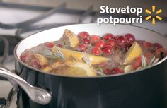 Christmas is in the air! Fill the air with scents of the holidays with this quick, simple idea. This stovetop potpourri freshens your home with fruits (like oranges and cranberries), spices (like ginger and nutmeg) and herbs (like rosemary) – all available at Walmart every day low prices. Simply toss the ingredients in a pan with water, simmer on low heat and take in the aroma. It's easy and affordable to create long-lasting seasonal smells. Check out more holiday food hacks for any budget.