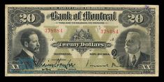 Canada, Bank of Montreal, 20 dollars : November 3, 1914