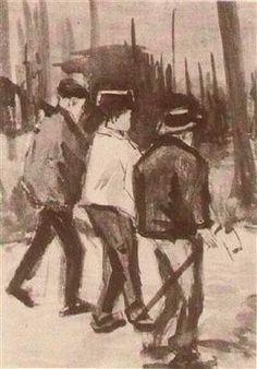 Three Woodcutters Walking - Vincent van Gogh