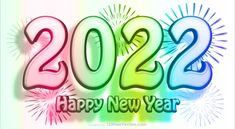 Free Happy New Year 2022 Colorful Background Vector Art