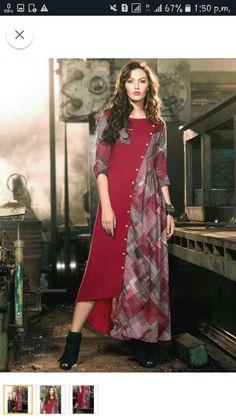 New Kurti Designs, Kurta Designs Women, Salwar Designs, Kurti Designs Party Wear, Blouse Designs, Muslim Fashion, Indian Fashion, Casual Dresses, Fashion Dresses