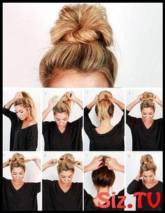 Check out our collection of easy hairstyles step by step diy. You will get hairs. Check out our collection of easy hairstyles step by step diy. You will get hairstyles step by step tutorials, easy hairstyles quick lazy girl hair hac. Easy Work Hairstyles, Trendy Hairstyles, Beautiful Hairstyles, Nurse Hairstyles, Cute Bun Hairstyles, Easy Everyday Hairstyles, Lazy Girl Hairstyles, Easy Work Updos, Lazy Day Hairstyles
