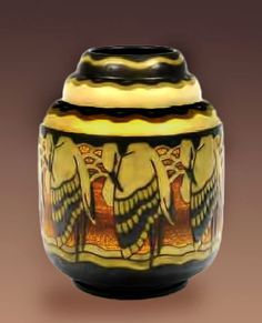 Charles Catteau Art Deco ceramic jar – 1930