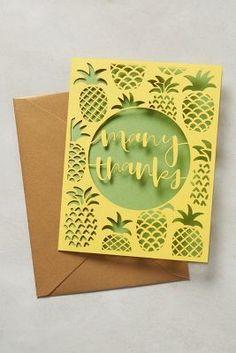 Alexis Mattox Design Lasercut Many Thanks Card #anthrofave