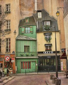 My Paris neighborhood! Great photo of a different side of Paris, this is in rue Galande, Arr, and there have been shops here for at least 800 years /French at Heart‎The Good Life France Oh The Places You'll Go, Places To Travel, Beautiful World, Beautiful Places, Beautiful Pictures, Belle Villa, France Travel, Paris Travel, Belle Photo