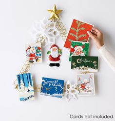 Want to display your holiday cards?  This is the perfect holiday card holder to show off all holiday cards you get this season!!