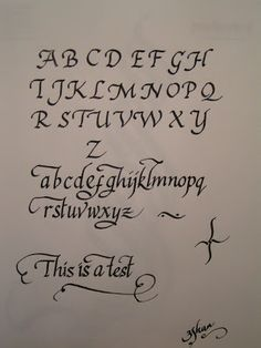 Italic Calligraphy -good website, how to