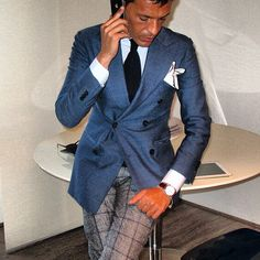 Great with the windowpane trousers!