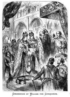 Coronation of William the Conqueror at Westminster Abbey on Christmas Day 1066