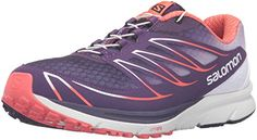 Salomon Womens Sense Mantra 3 WW Trail Runner Cosmic PurpleWhiteCoral Punch 6 D US >>> You can find out more details at the link of the image.