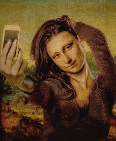 'Mona Lisa - Open photoshop contest is now closed. Lisa Gherardini, Arte Van Gogh, Art Et Design, Mona Lisa Parody, Mona Lisa Smile, Photocollage, Arte Pop, Italian Artist, Grafik Design