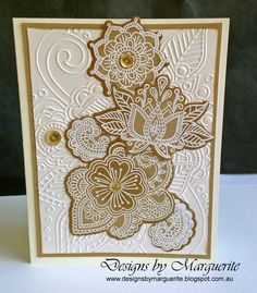 Designs by Marguerite: Ornate Blossoms new from CTMH Heart Artwork, Card Making Designs, Paper Craft Making, Scrapbook Cards, Scrapbook Layouts, Scrapbooking, Embossed Cards, Flower Stamp, Heart Cards