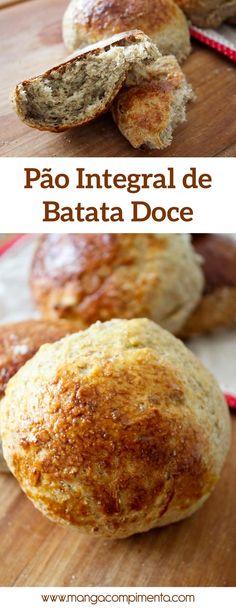 Pão Integral de Batata Doce - para um café da manhã delicioso! #receita #pão #cafédamanhã