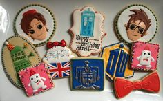 Doctor Who Cookies made by Cookie Cowgirl