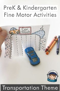 This resource is made up of four fine motor transportation themed activities to strengthen muscle control students need in order to write and use scissors. Transportation Preschool Activities, Preschool Fine Motor Skills, Transportation Activities, Motor Skills Activities, Kindergarten Activities, Cutting Activities For Kids, Car Activities, Preschool Crafts, Play Doh