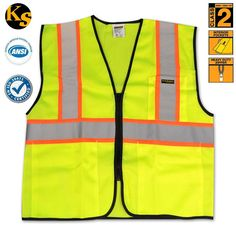 KwikSafety Class 2 Construction Safety Vest - Orange   Yellow Seguridad En  La Construcción a52f5b2c53920