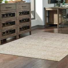 Colors of Nature Wool Area Rugs - Beige