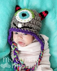 Infant Monster Hat Cute Halloween costume or by mymadymichelle, $18.00