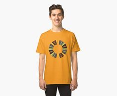 """Colorful ring"" t-shirt. Design by Gaspar Avila"