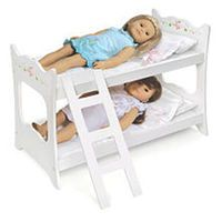 White Rose Doll Bunk Bed