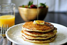 Strawberry Buttermilk Pancakes