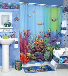 Shower Curtain Is One Of Bathroom Decorating Ideas For Kids If You Want To Create Under Sea Theme Should With Picture