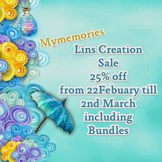 I have 25% off sale at mymemories https://www.mymemories.com/store/designers/Lins_Creations