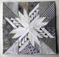 Carol Doak paper pieced star from Wombat Quilts