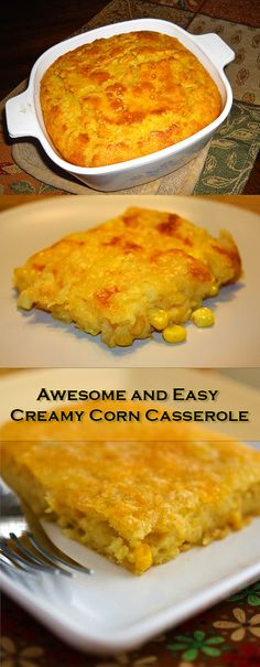Whole kernel corn, cream style corn, sour cream, eggs, butter, and muffin mix makes this yummy corn casserole a side dish everyone will love.