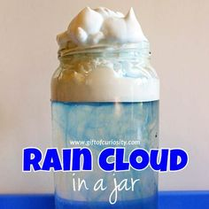 Make a rain cloud in a jar to learn how clouds and rain form. This simple weather activity uses materials you likely already have at home!