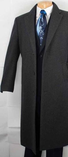 High quality cashmere blended top coat for men available in charcoal gray  color. f2b20cb22c