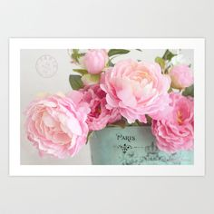 Paris Peonies Art Print by Kathy Fornal - $38.48