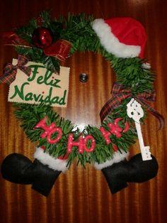 Corona de navidad para puerta.
