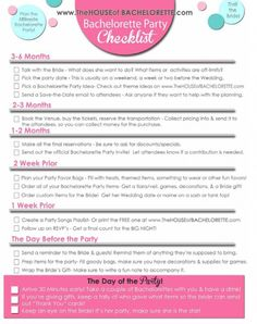 A girls guide to throwing a bachelorette party