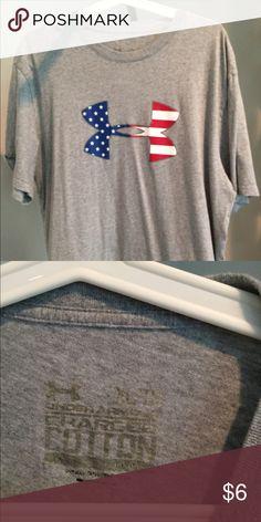 XL UNDER ARMOUR USA T SHIRT Under Armour USA T shirt size XL grey Under Armour Tops Tees - Short Sleeve
