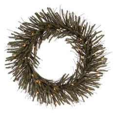 """30"""""""" Pre-Lit Vienna Twig Artificial Christmas Wreath - Clear Lights"""