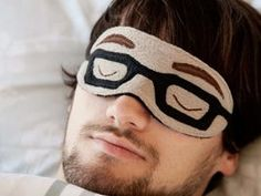 DIY tutorial: Sew A Sleep Mask With Glasses Pattern via DaWanda.com