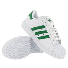 Adidas Super Star II J White Green Leather Youth Trainers adidas. $76.48
