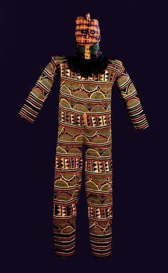 Africa | Dance costume from the Igbo people of Nigeria | Early 20th century | Cotton and wool