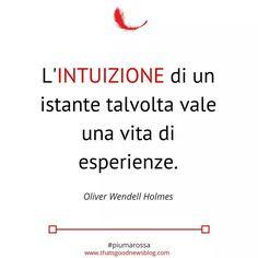 L'intuizione è figlia di un istante #citazioni #piumarossa