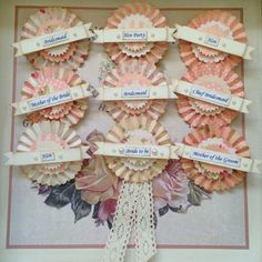 Pretty in peach our hen party rosette badges £4.75 each  #henparty #henpartybadges #henpartyrosettes #henpartygifts #classyhenparty