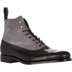 Grenson Cap-Toe Balmoral Boots at Barneys.com