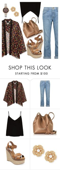 """""""How to wear kimono this season"""" by dressedbyrose ❤ liked on Polyvore featuring Anna Sui, Current/Elliott, Raey, Lancaster, Steve Madden, Kate Spade, ootd, kimono and polyvoreeditorial"""